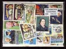 Célébrités - Fame Personality 500 timbres différents oblitérés