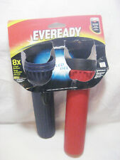 Eveready Dual Red & Blue LED Flashlights ONE MISSING TOP
