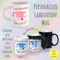 Personalised Graduation Congratulations Gift Mug Degree PhD Diploma Magic mug