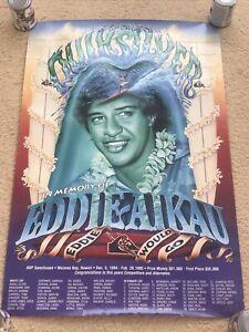 QUIKSILVER EDDIE AIKAU WOULD GO 94-95 WAIMEA BAY HAWAII SUPER RARE & OOP POSTER