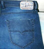HOT Men DIESEL TEPPHAR 0R98J Slim CARROT SKINNY DARK STRETCH Denim Jeans 33 x 32