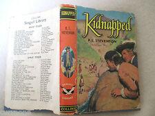 KIDNAPPED Robert Louis Stevenson C1956 HCDJ children's classic