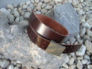 Lederkoppel braun Depotware Koppel Länge 100cm Ledergürtel mit Schloss WH WK2