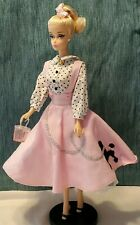 SODA SHOP BARBIE with Poodle Skirt and Purse Stand Included DGX89
