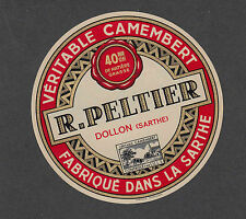 Ancienne   étiquette  Fromage Camembert  France  NN5 Peltier
