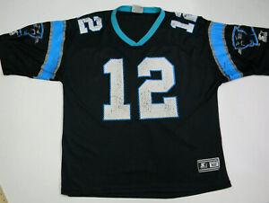 Vintage Starter Kerry Collins Carolina Panthers Jersey Adult 52 Black Blue