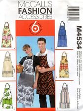 2004 NEW Apron Sewing Pattern Size S-XL Unisex McCall's 4534 OOP