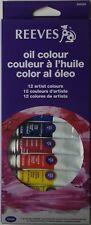 REEVES OIL COLOUR Paint 12 Artist Colours 10ml tube set 8594300 Brand NEW!