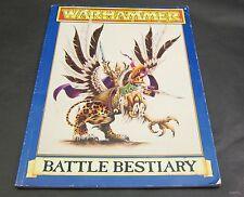 Warhammer Battle Bestiary Rule Book Games Workshop 1992