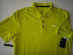 New men's Nike Polo Golf shirt Rare size XLT XL Tall dri fit Bright Cactus