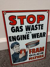 Fram Oil Filter Sign .Gas Oil Gasoline . Free shipping on any 8 signs