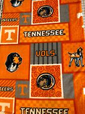 University of Tennessee UT Volunteers BLANKET FLEECE Fabric by Yard or 1/2 Yard