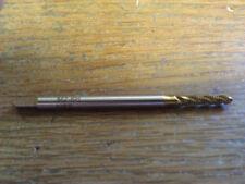 M2 X .4 GD3 TiN 2 FLUTE HIGH SPEED STEEL SPIRAL FLUTE BOTTOM TAP
