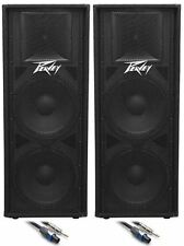 "(2) Peavey PV215 Dual 15"" Inch Passive PA Speaker +FREE Speaker Cables"