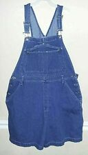 Vintage Unisex Denim Bib Overalls Shorts 100% Cotton Size 18/38