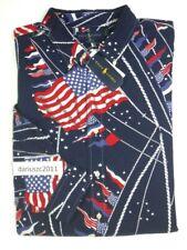 New listing Ralph Lauren Big&Tall Flag Print Classic Fit Long Sleeve Shirt Top Size 3Xlt