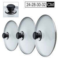 REPLACEMENT VENTED FRYING FRY PAN TEMPERED GLASS SAUCEPAN LID COVER FRYING PAN