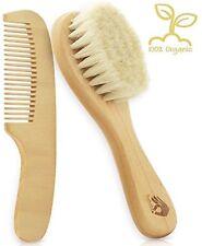 Natural Soft Newborn Baby Brush Set | Organic Goat Hair Bristles with Eco-Fri...