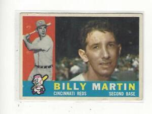 1960 Topps #173 Billy Martin Reds - VG