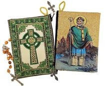 Reversible St Saint Patrick Icon Rosasy Pouch Case Holder 5 3/8 Inch