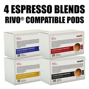 100 or 120 RIVO KUERIG® compatible pods Italian Coffee Espresso FREE SHIPPING!