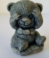 """Mt. St. Helen's Volcanic Ash 2"""" Peek A Boo Bear Sculpture"""