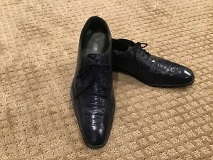 """Stacy Adams Tapered Toe Navy Blue Oxfords  11 M  """"Excellent"""""""