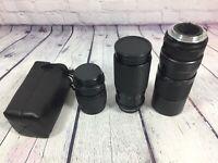 3 Camera Lens Vivitar 100-300mm - Rmc Tokina 80-200mm - Dejur f=135mm Vtg Lot