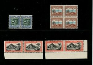 A Fantastic mint New Zealand group of Pairs and Block
