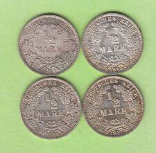 Kaiserreich 1/2 Mark 1914 A, 1915 A, 1916 A, 1917 A besser als vz nswleipzig