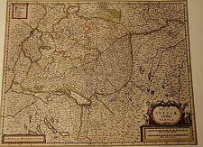 Historische Landkarte Schwaben, Esslingen, Stuttgart, Nürtingen, Cannstadt 1658