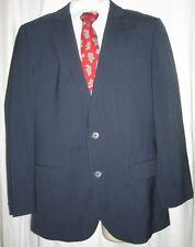 HUGO BOSS RED LABEL Amaro / Helse Stretch Blue Stripe Blazer Jacket Sz 42R 42