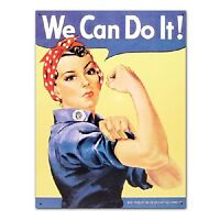 Rosie the Riveter We Can Do It WW2 Military Retro Vintage Style Metal Tin Sign