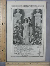 Rare Original VTG 1903 Ivory Soap Swift's Ham & Bacon Advertising Art Print