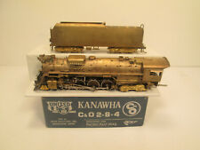 CHESAPEAKE AND OHIO - C & O 2-8-4 KANAWHA BRASS LOCOMOTIVE - NICE
