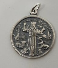 SAINT FRANCIS OF ASSSISI ROUND DISC CHARM PENDANT EASTER JEWELLERY
