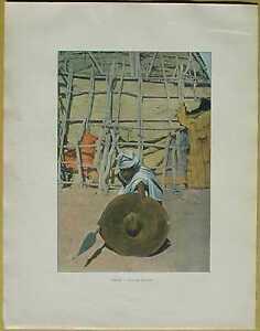 ca.1895 French photochrom BEJA WARRIOR, RED SEA, SUDAN (#143)