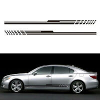 2pcs 215CM Car Racing Sports Long Stripe Graphic Sticker Body Side Vinyl Decals