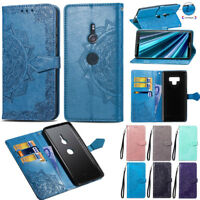 For Sony Xperia XZ3 3D Patterned Leather Flip Case Card Slots Wallet Stand Cover