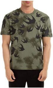 MCQ Alexander McQueen Khaki Swallow T-Shirt 100% Authentic, Brand New and Tagged
