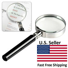 10X Magnification Handheld Magnifier Magnifying Glass Handle 50mm 2inch New!