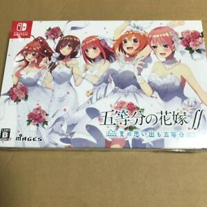 The Quintessential Quintuplets ∬ First Limited Edition Nintendo Switch NEW FedEx
