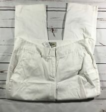 LLBean womens capri jeans size 10P straight fit style OJCN8 white color