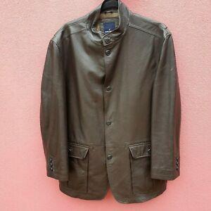 Daniel Hechter Brown Very Soft Premium Leather Sheepskin Jacket Size 54