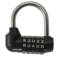 1PCS 5Digit Letter Code Dial Combination Luggage Suitcase Password Lock Padlock