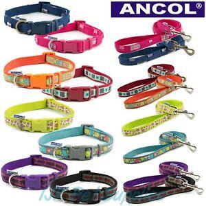 Ancol Dog Fashion Adjustable Nylon Collars Leads CLEARANCE LINES