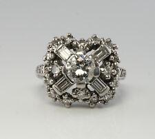 Estate 1.42 Tdw Diamond Ring Platinum Vintage