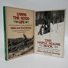 Helen and Scott Nearing~Living the Good Life~Maple Sugar Book