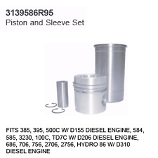 3139586R95 Case Tractor Parts Piston and Sleeve Set IH 385, 395, 500C D155 3 CYL