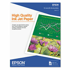 Epson High Quality 8x11 Ink Jet Paper - 100 Sheets
